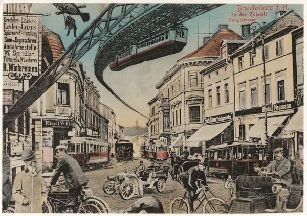 So  stellte man sich um 1910 die Zukunft der Stadt Brandenburg vor.