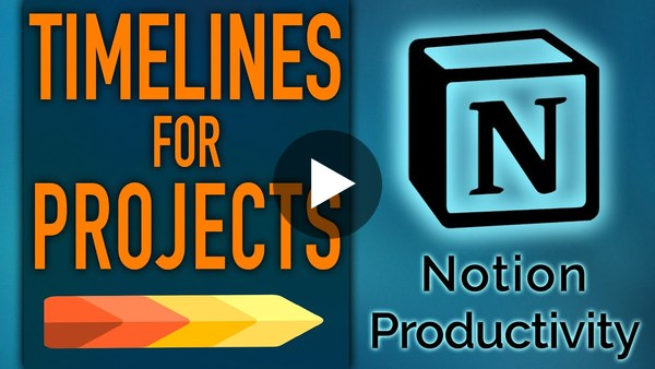 Timelines for Projects in Notion Life Operating System