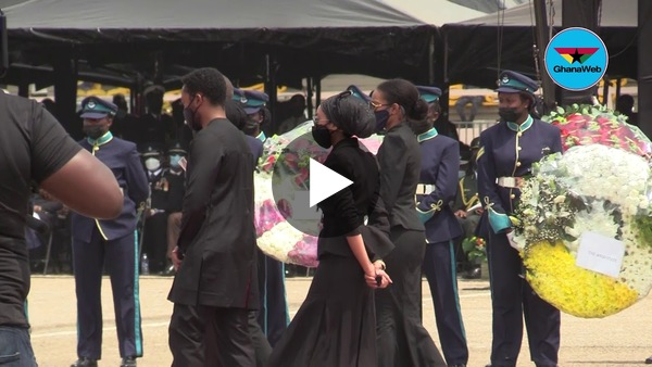 Rawlings' children pay  last respect to their father