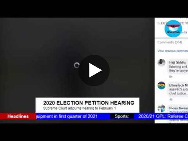 GhanaWeb TV Live: 2020 Election Petition; Friday January 29