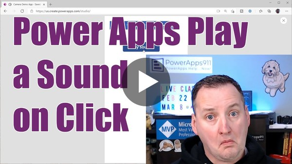 QTT - Power Apps (Canvas Apps) Play Sound on Click