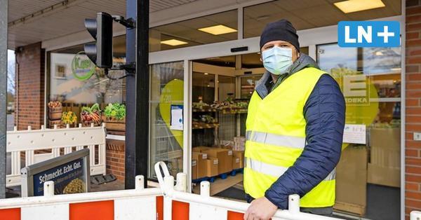Corona: Maskenpflicht beim Einkaufen: Ein Tag als Wachmann vor dem Supermarkt