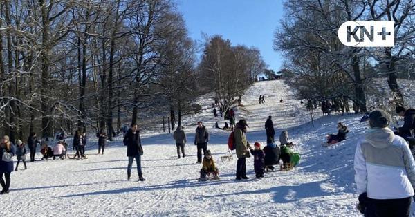 Winter beschert Rodelspaß am Boxberg in Aukrug