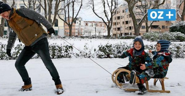 Wintereinbruch in Rostock: Was den Schnee 2021 so außergewöhnlich macht