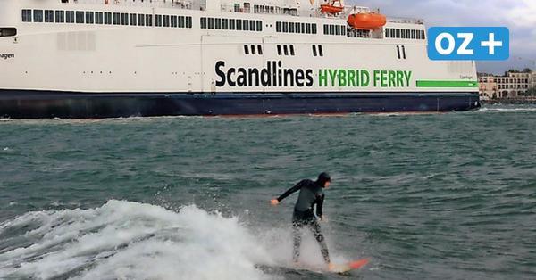 Illegales Surf-Abenteuer? Foto von Warnemünder Westmole sorgt für Diskussionen im Netz