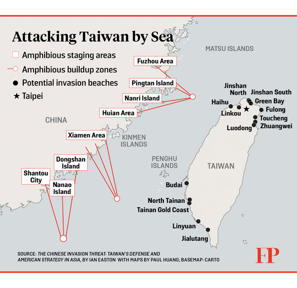 Source: Taiwan Can Win a War With China. Foreign Policy. Sep 2018.