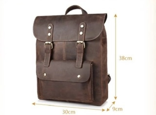 Men's leather canvas backpacks