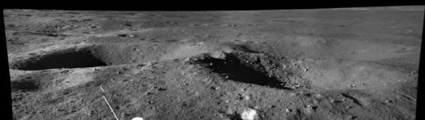 A view from Yutu-2 in Von Kármán crater during lunar day 26. Credit: CNSA/CLEP