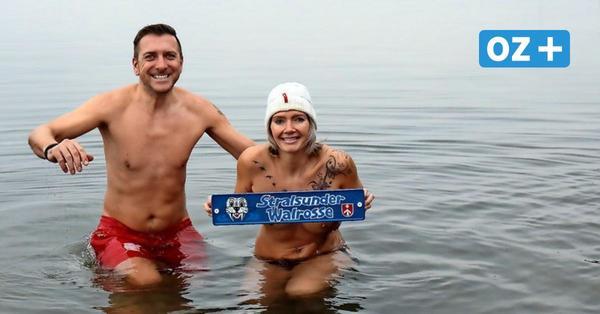 Eisbaden in Stralsund: Diese Hansestädter springen im Winter in den Sund