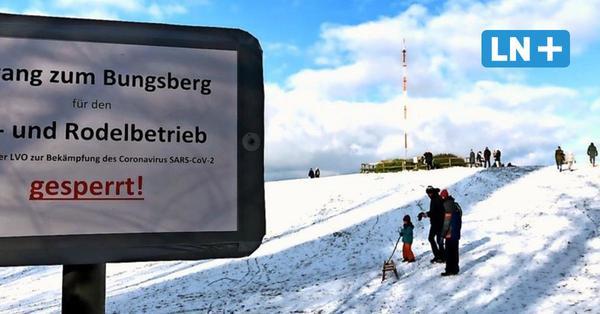 Schnee auf dem Bungsberg: Rodler und Skifahrer sind nicht willkommen