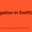 Navigation In SwiftUI