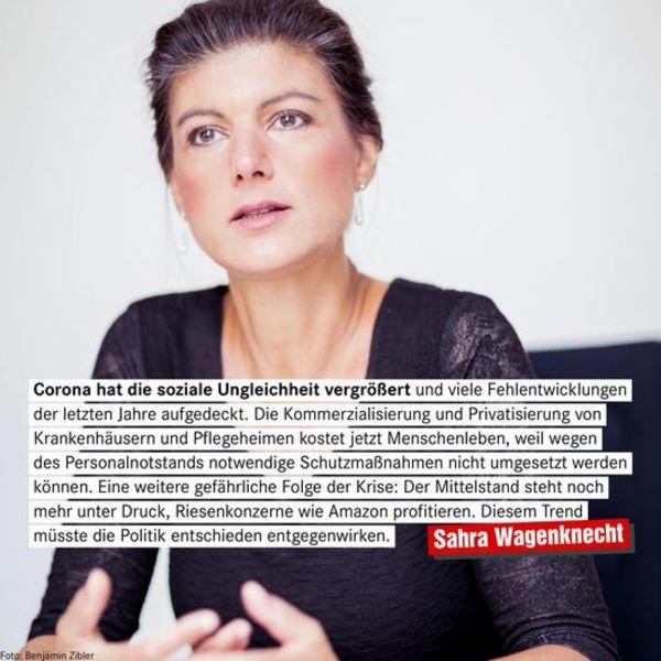 """""""Im Mittelpunkt unserer Politik müssen soziale Themen stehen"""" (Sahra Wagenknecht (DIE LINKE))"""