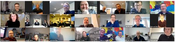 commercieel medewerkers, ISO-coördinatoren en directies op Zoom