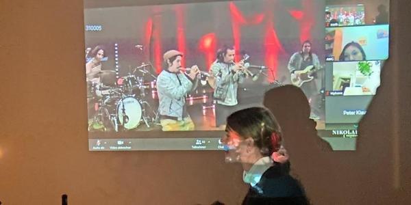 Ein Zoom-Konzert des Nikolaisaals. Quelle: Karim Saab