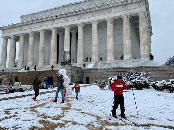 Washingtonians bei Schnee. Foto: Fabian Reinbold
