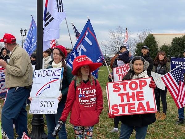 Wahlprotest in Pennsylvania (im November). Foto: Fabian Reinbold