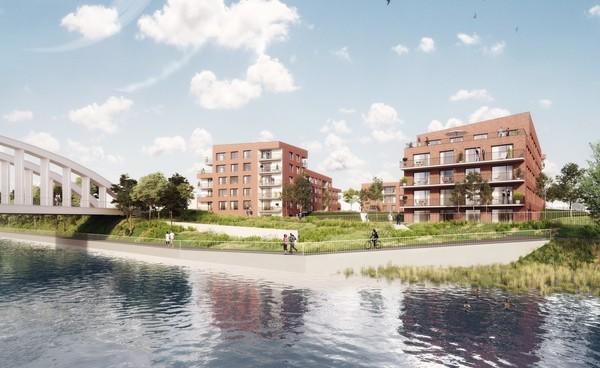 Marquette-lez-Lille : quatre immeubles en bord de Deûle - Grote woonontwikkeling langs de Deûle