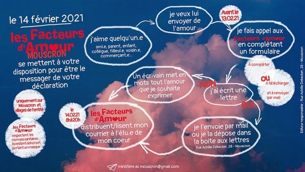 Mouscron : les Facteurs d'amour sont de retour - Laat een liefdesboodschap brengen