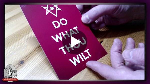 Checking Out A Sample DO WHAT THOU WILT Mini Art Print