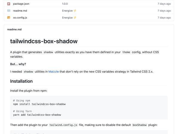 tailwindcss-box-shadow