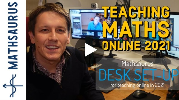 Teaching maths online 2021 - full desk setup