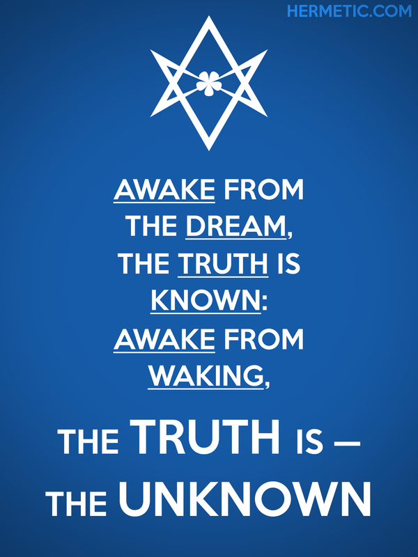 Unicursal THE TRUTH IS THE UNKNOWN Propaganda Poster