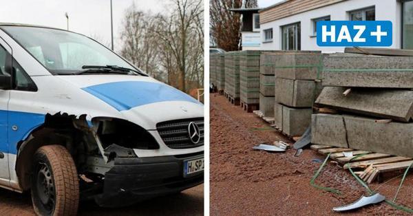 Randalierer zerstören Vereinsbulli der TSV Burgdorf bei Crashtour durchs Stadion
