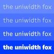 🔗 Uniwidth typefaces for interface design