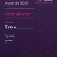 Juniper Research recognizes Evina as the gold winner in Security and Fraud Innovation - Evina