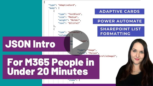 JSON Intro for Microsoft 365 People