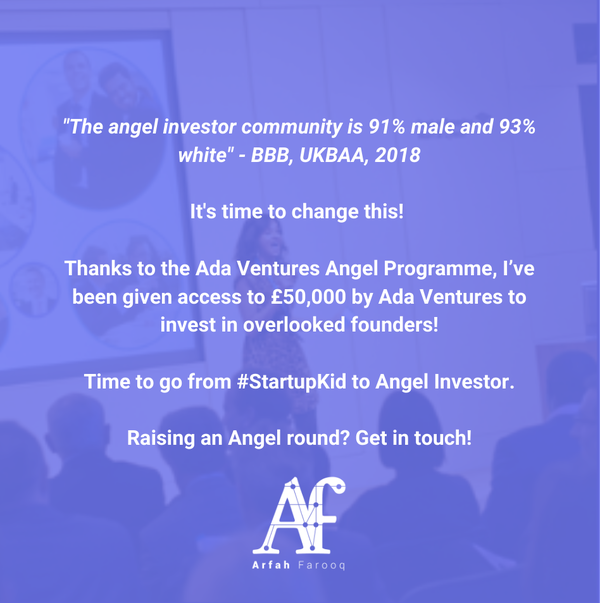 Startup Kid to Angel Investor #1