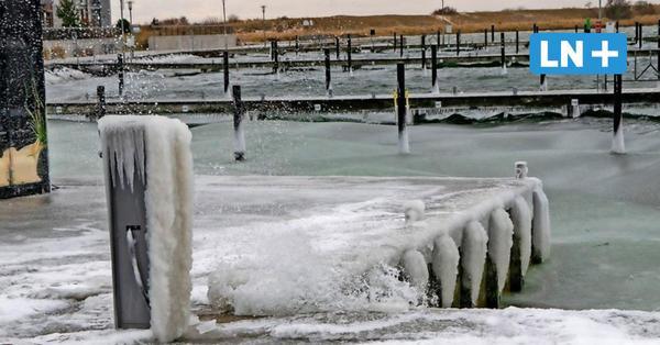 Kaum Schnee dafür eisige Sturmböen undHochwasser an der Ostsee