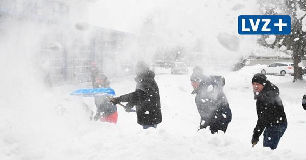 Wintereinbruch in Leipzig: Die schönsten Fotos vom Schneetreiben