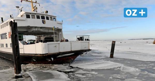Eis und Sturm: Insel Hiddensee von Außenwelt abgeschnitten