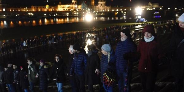 Menschenkette 2021 in Dresden nur online