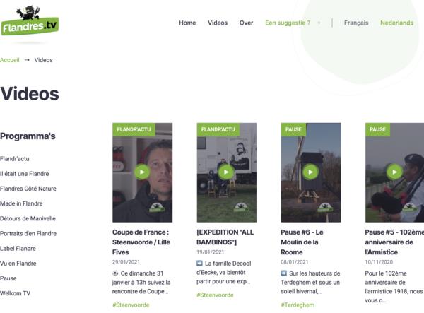Flandres.TV a un nouveau site web - Flandres.TV heeft nieuwe website