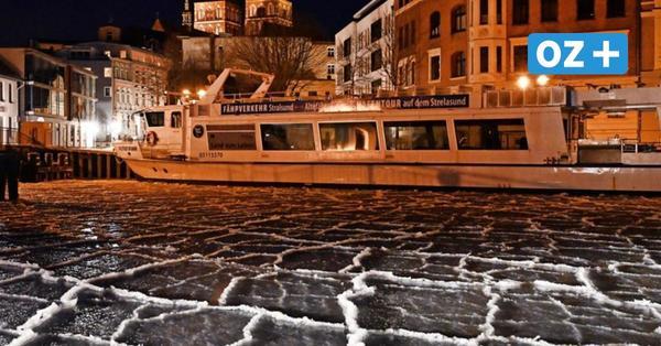 Fuß war schon im Wasser: Stralsunder Feuerwehr holt Menschen von Eisflächen