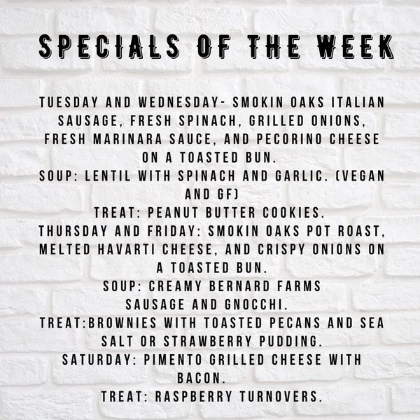 Born and Raised Market's Weekly Specials