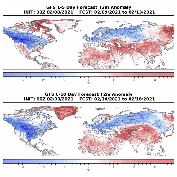 Polar vortex: 2/9 to 2/13 & 2/14 to 2/18