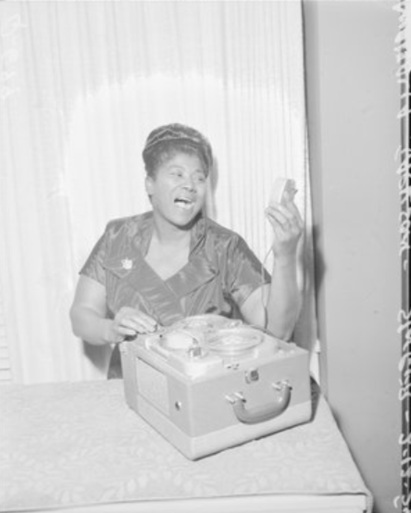 Gospel singer Mahalia Jackson, poses for a photograph in Chicago on February 12, 1954. | From the Sun-Times archives.