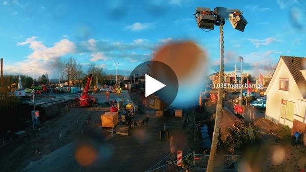 LEIMUIDEN - Timelapse werkzaamheden kruispunt N207 (video)