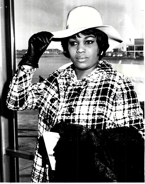 """Leontyne Price, the world-renowned American soprano star, arrived at O'Hare Field, via United Airlines, to prepare for her Wednesday evening, November 24, 1965, appearance in the title role of Lyric Opera's production of Verdi's """"Aida."""" Five years earlier, she performed the title role for the first time at the Lyric Opera. 