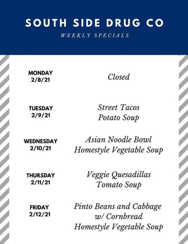 South Side Drug Co. Weekly Specials!