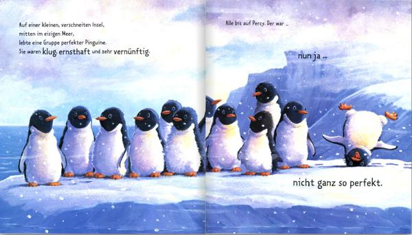 """Blick ins Buch """"Ein Pinguin tanzt aus der Reihe"""", erschienen im Verlag Loewe"""