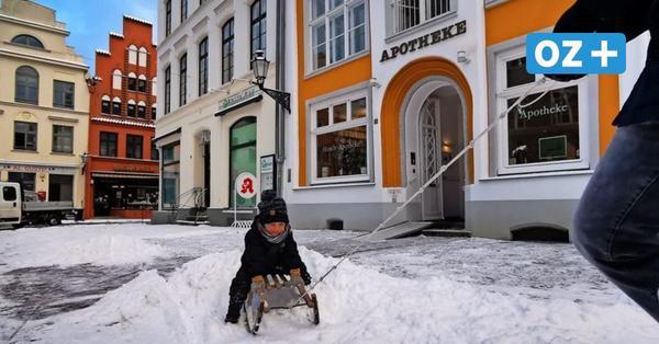 """Endlich Schnee in Wismar: Die besten Bilder vom """"Flockdown"""" in der Hansestadt"""