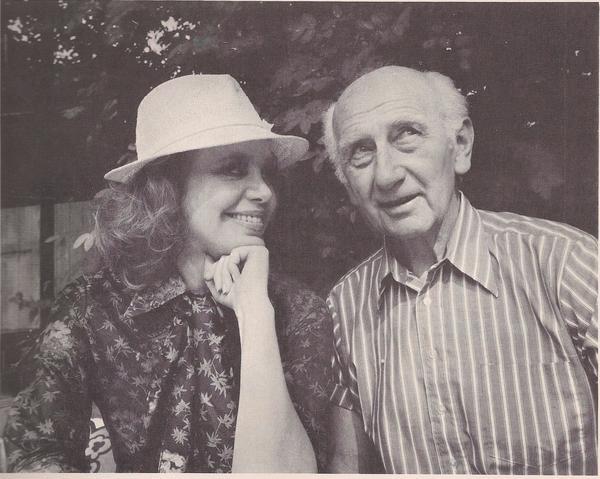 """Hildegard Knef und Hans Kossatz brachten das Buch """"Heimweh-Blues"""" heraus."""
