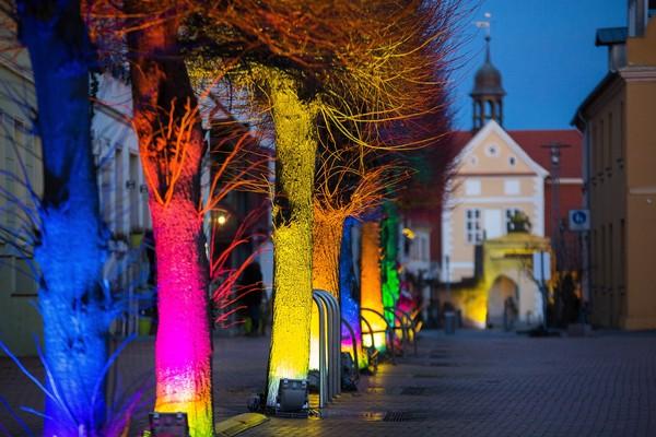 Winterlichter - illuminierter Stadtrundgang in Barth (Foto: Arndt Gläser)
