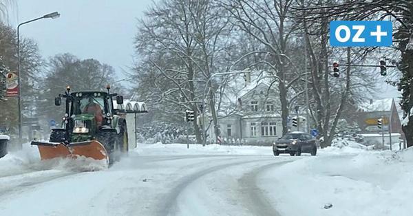 Schneefälle rund um Ribnitz-Damgarten: Wo besonders viel herunter kam