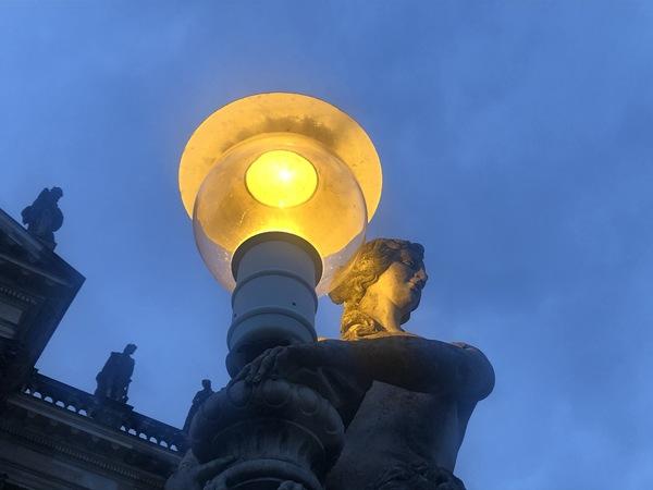 Wo leuchtet dieses Licht in Potsdam? Foto: Peter Degener