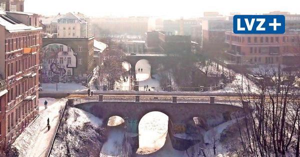Drohnenflug über den Karl-Heine-Kanal: So schön ist das winterliche Leipzig